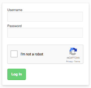 reCaptcha example at login section