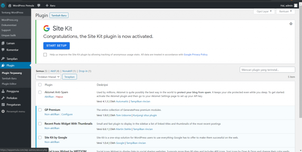 Begini Cara Install Google Site Kit Plugin di WordPress