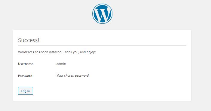 Set up WordPress page.